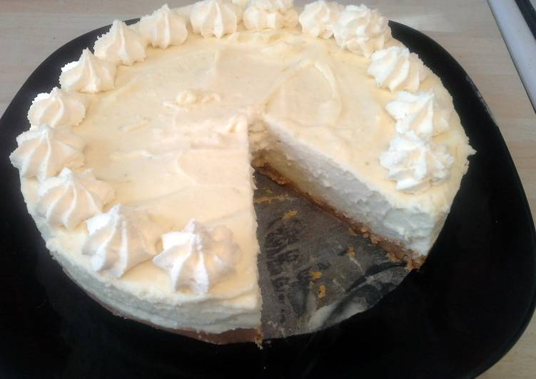White Chocolate and Lime Cheesecake