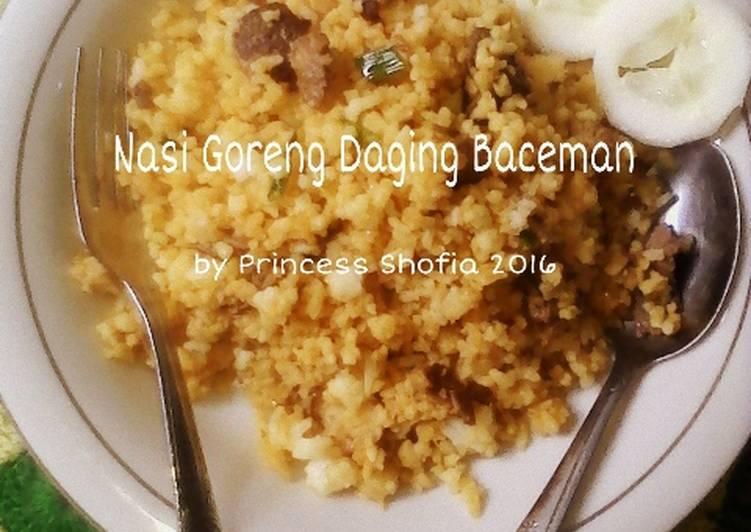 Nasi Goreng Daging Baceman