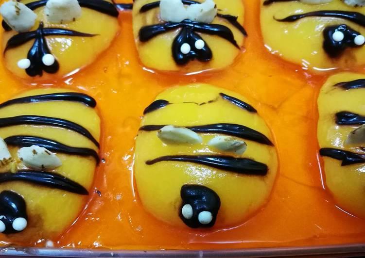 Step-by-Step Guide to Make Speedy Honey Bee Orange Jello dessert