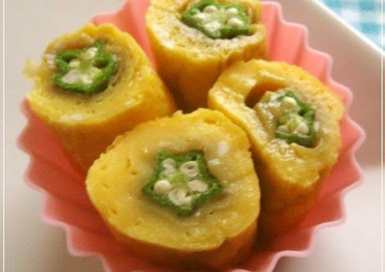 Tamagoyaki Okra Flowers, Helping Your To Be Healthy And Strong with Food