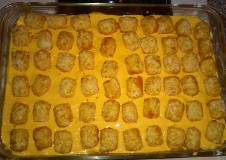 Recipe: Perfect Taco tater tot casserole