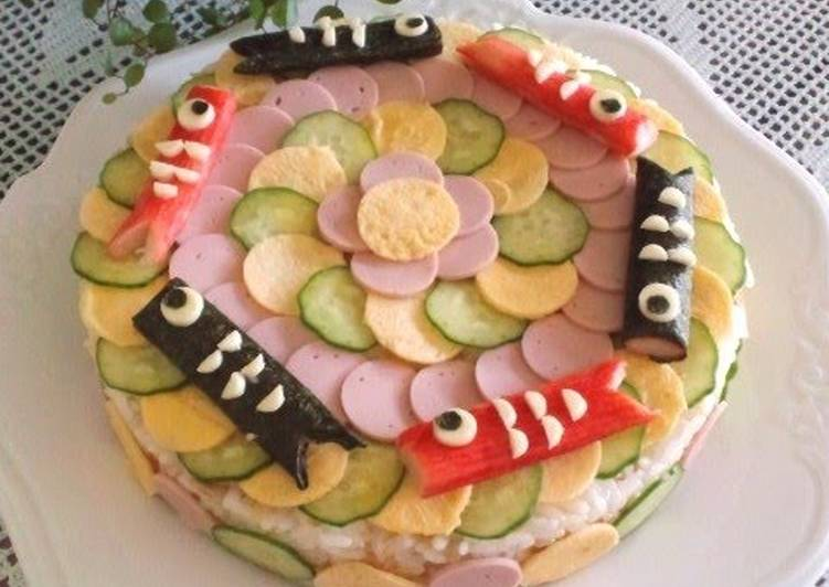 Carp Banner Sushi Cake for Children's Day