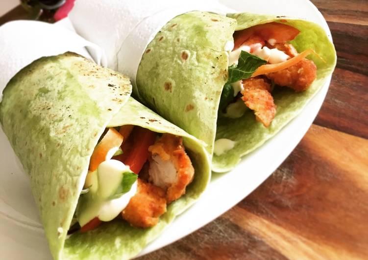 Crispy Chicken & Salad Wraps