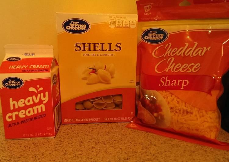 3 Ingredient Mac n Cheese or Alfredo