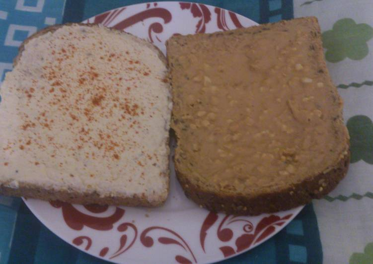 No nonsense Hummus and Peanut butter sandwich