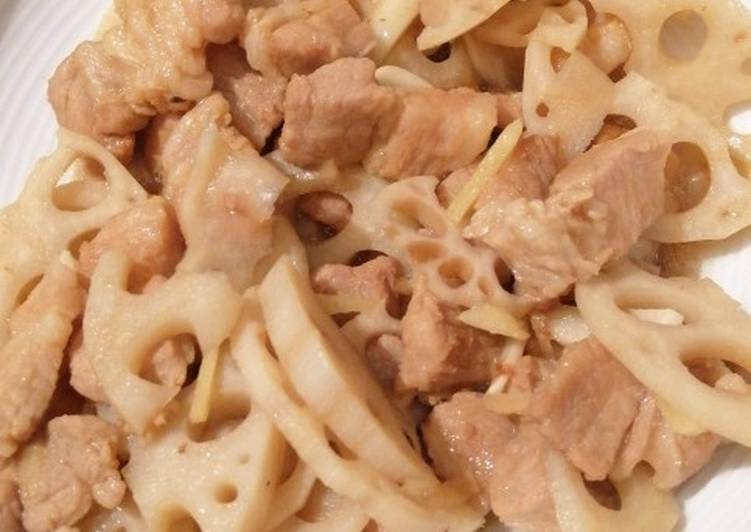 Easiest Way to Prepare Tasty Lotus Root with Pork