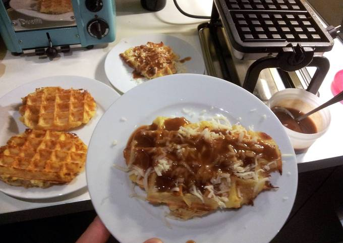 Potato Waffle Poutine