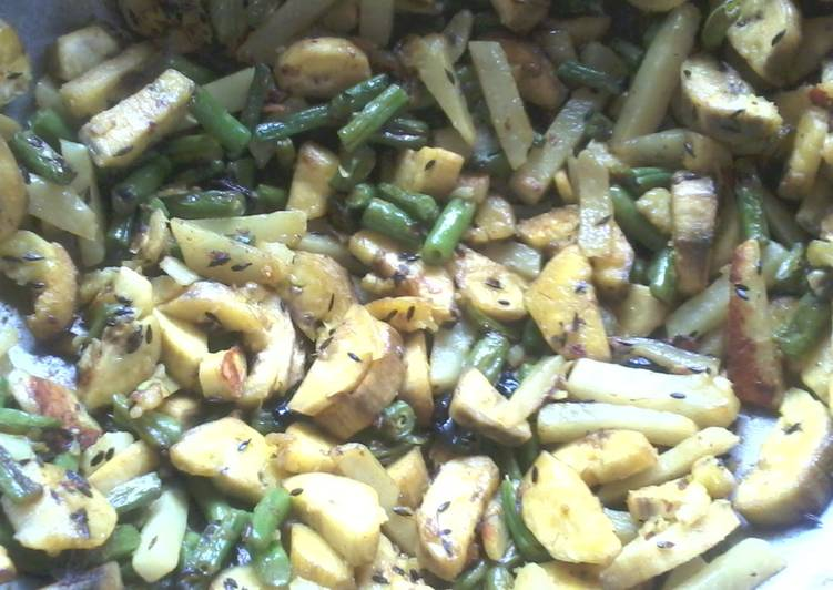 Green Plaintain Stir-fry