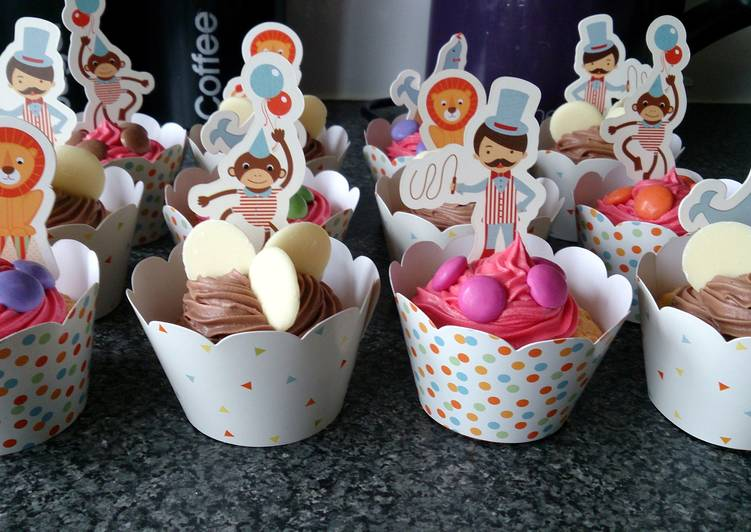 Steps to Prepare Super Quick Homemade Children's circus cupcakes