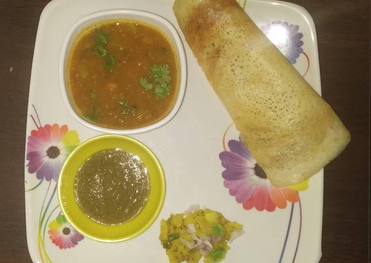 Recipe: Yummy Dosa Sambhar Platter