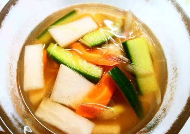 Steps to Prepare Award-winning Mul (Water) Kimchi Instant Pickles
