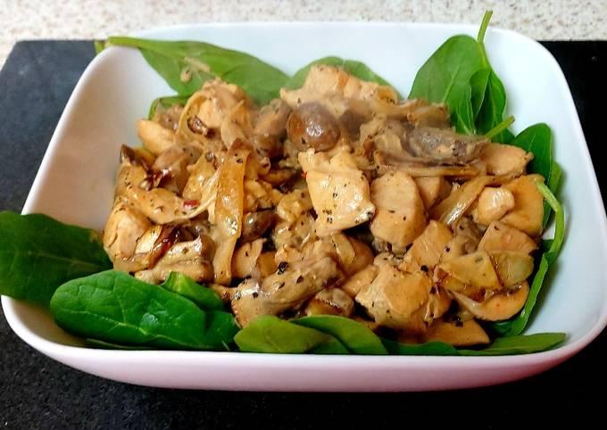 My Creamy Black Peppered Chicken & Mushroom 🥰 #Mainmeal