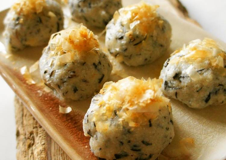 Chewy Cheese Hijiki & Okara Balls - Laurie G Edwards