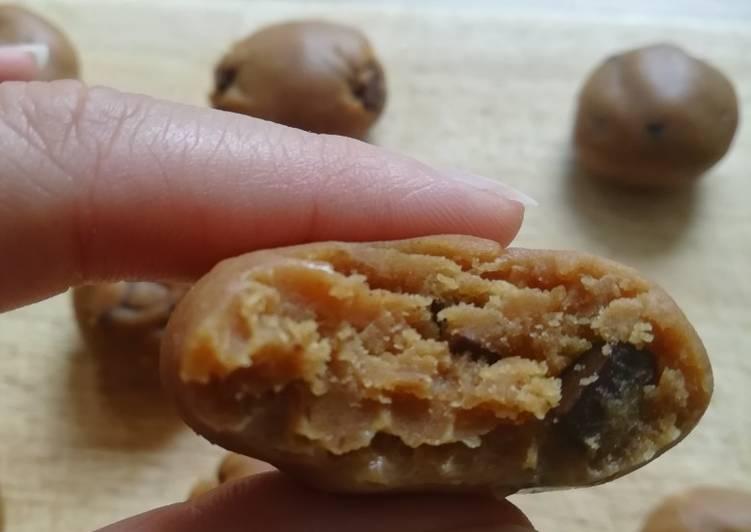 Cookies crue/vegan (beurre de cacahouète et pépites dechocolat)