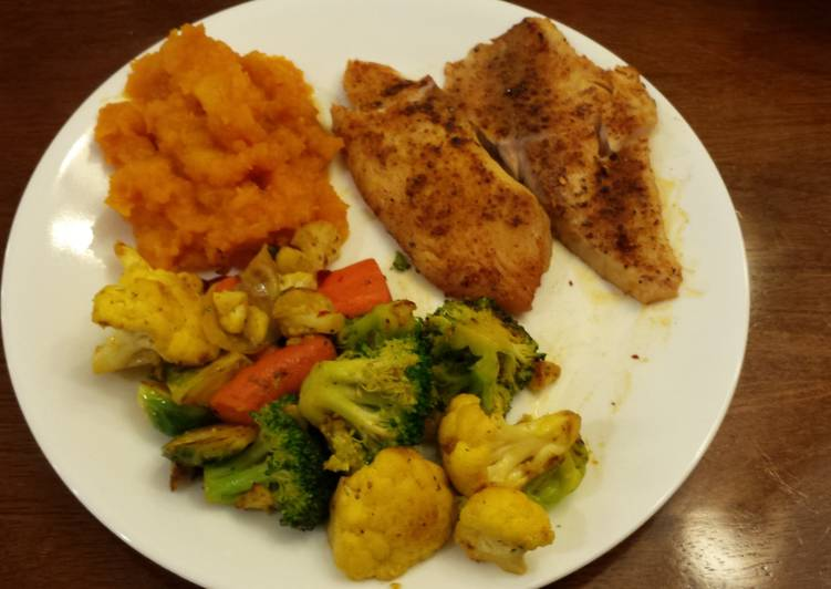 Recipe of Ultimate Tilapia W/Roasted Vegetables