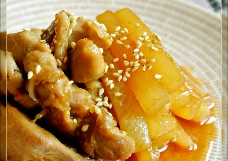 Chinese-Style Chicken and Daikon Radish - Laurie G Edwards