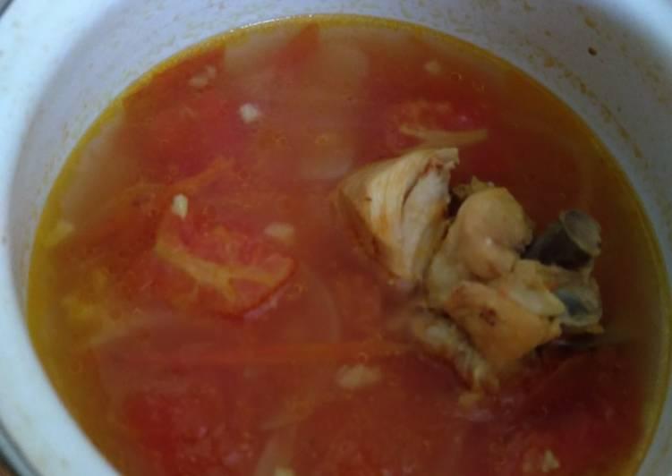 Sop ayam tomat mpasi 1+