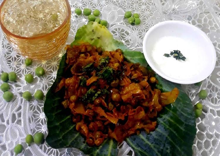How to Prepare Quick Cabbage &Peas