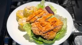 Hình ảnh món Ức gà ướp bột ớt paprika và bột tỏi-Air fryer