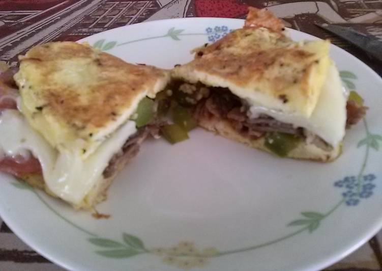 How to Prepare Delicious Dean's Bow-tie Steak, Egg, And Cheese Omelet