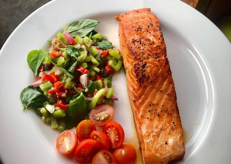 Salmon panggang dabu-dabu