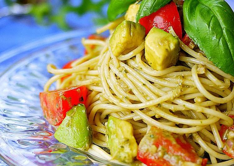 Chilled Pasta with Avocado and Basil Sauce, Finding Nutritious Fast Food