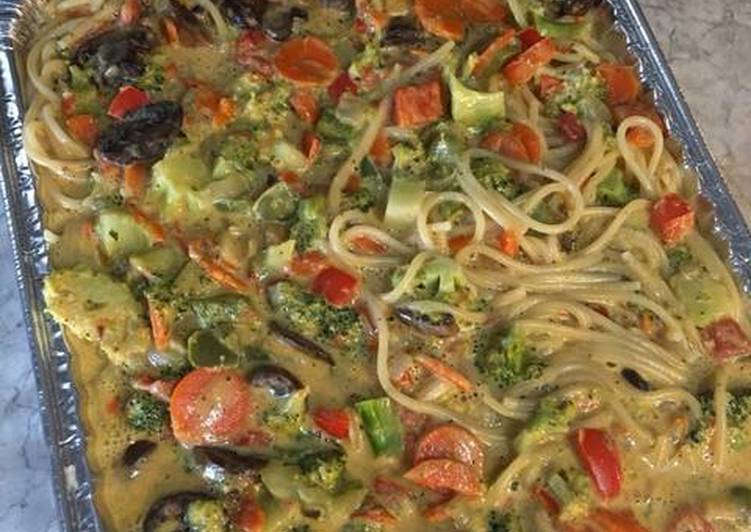 Recipe: Appetizing Cheesy Veggie Pasta