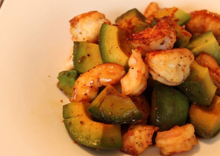 Shrimp and Avocado Stir Fry with Yuzu Pepper - Laurie G Edwards