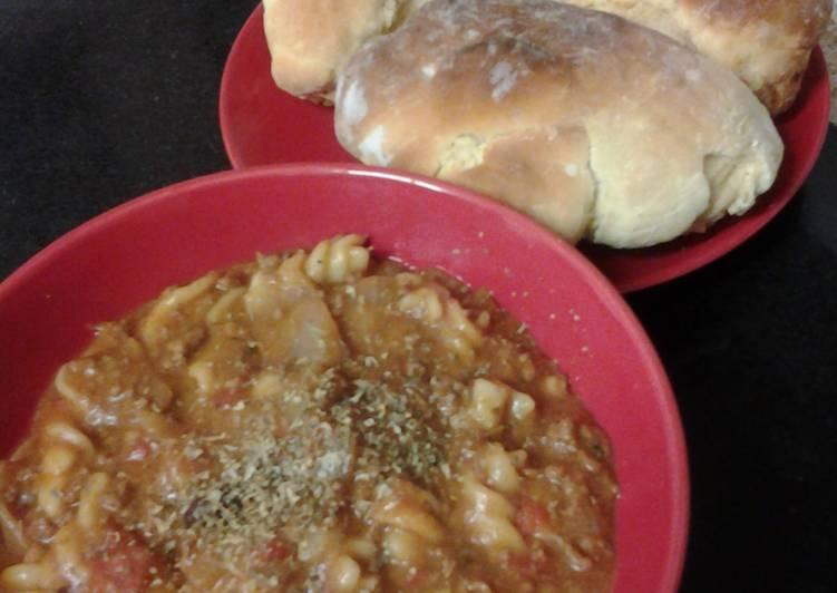 Moes beef, mushroom and Tomato Pasta Twirls Stew