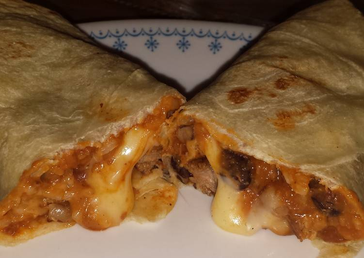 Grilled steak burritos
