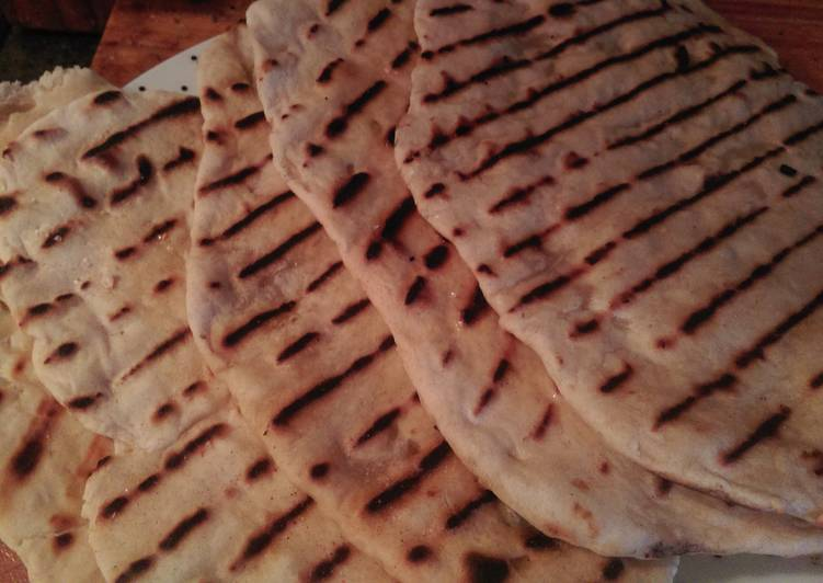 Steps to Make Award-winning Yeast free garlic naan bread