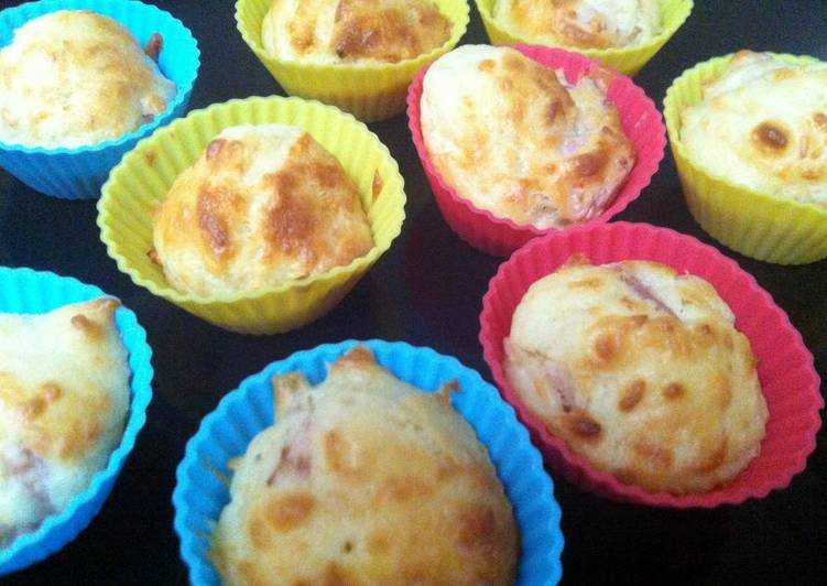 Step-by-Step Guide to Make Speedy Ham And Cheese Cupcakes