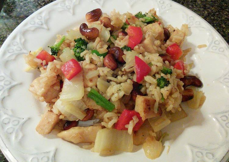 Recipe: Yummy Cashew Chicken Fried Rice