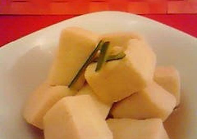 Healthy Simmered Koya Dofu for Diets