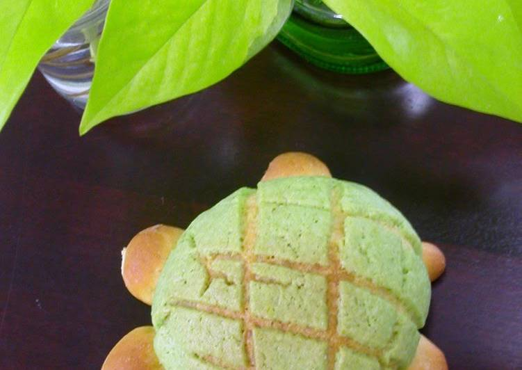 How to Prepare Super Quick Homemade Turtle-Shaped Melon Bread in the Microwave