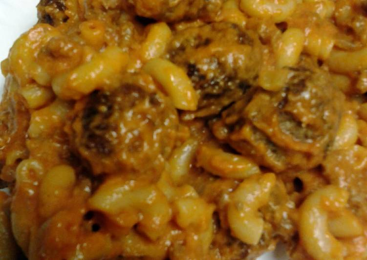 Easiest Way to Make Perfect macaroni meatballs and meat and cheese sauce