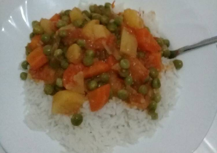 Vegan Potato Pea stew