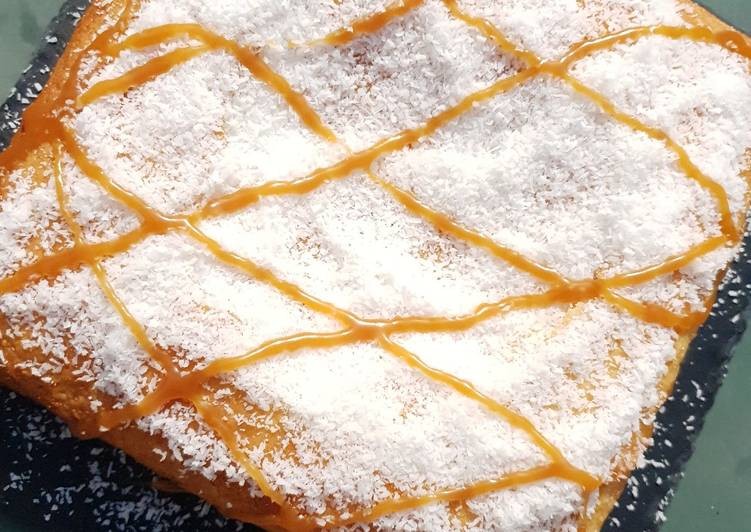 Recette Délicieux Gateau noix de coco caramel beurre salé