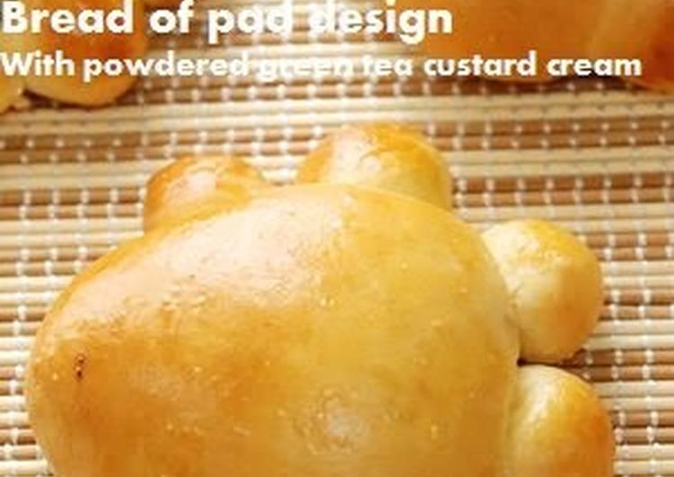 Steps to Prepare Quick Paw Shaped Green Tea Custard Cream Bread