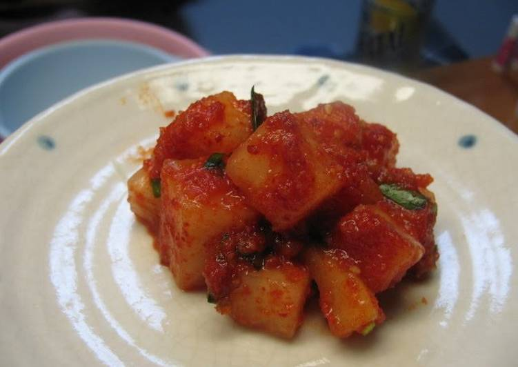 How to Cook Perfect Easy Daikon Radish Kimchi Stock