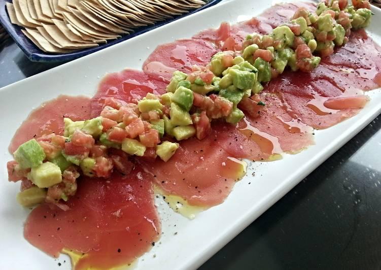Tuna Carpaccio my version