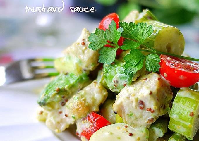 Chicken and Celery Mustard Salad