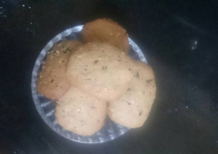 Banana oats choco cookies