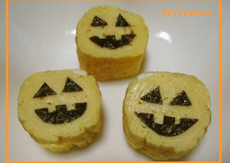 Recipe of Speedy Easy Jack-O'-Lantern Shaped Tamagoyaki