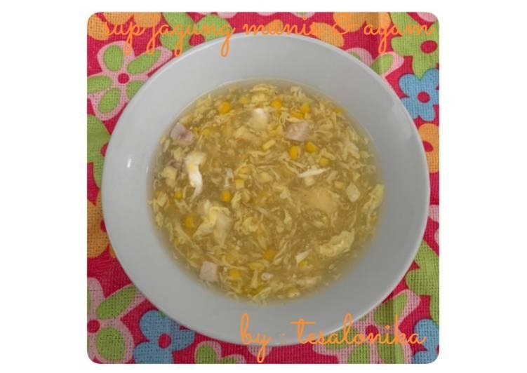 Resep Sup Jagung Manis & Ayam Yang Simple Enak