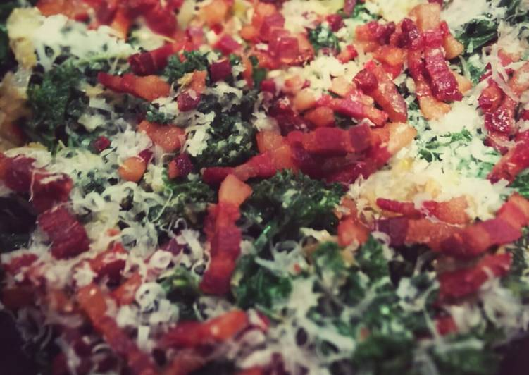 Sauteed kale with pancetta