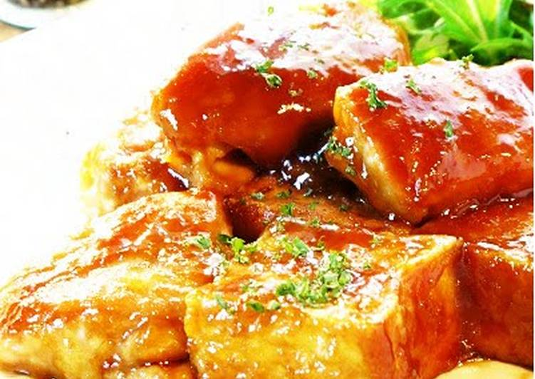 Step-by-Step Guide to Make Any-night-of-the-week Teriyaki Mayonnaise Fried Tofu (Aburaage) & Chicken Thigh