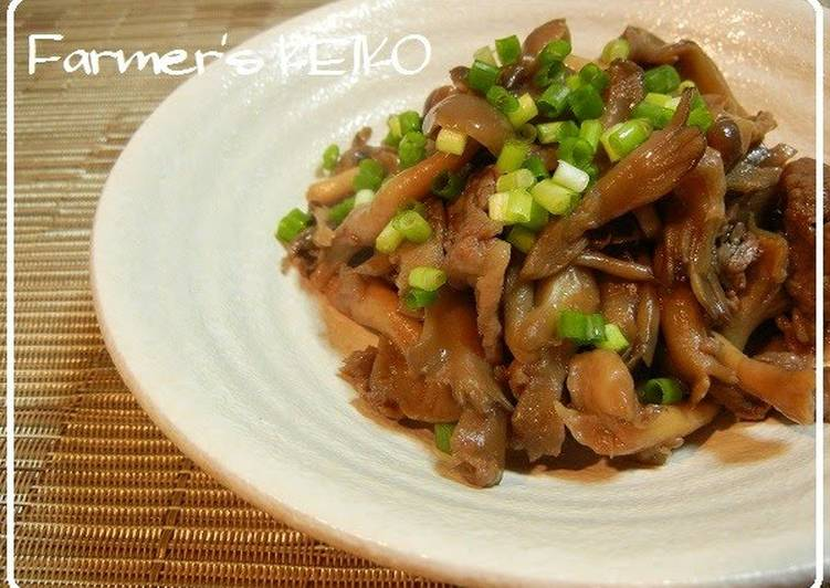 10 Minute How to Make Super Quick Homemade [Farmer's Recipe] Simmered Beef and Mushroom