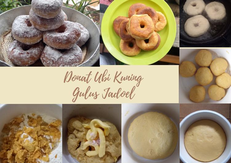 Cara Untuk Masak Lezat Donat Ubi Kuning Gulus Jadoel