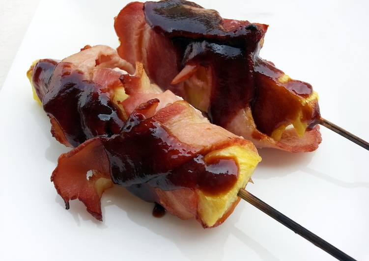 Pineapple And Bacon In Skewer